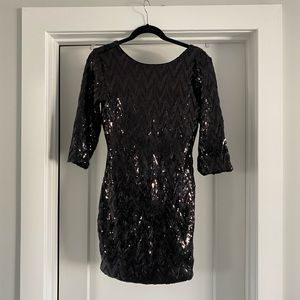 NWOT Black Sequin Cocktail Dress